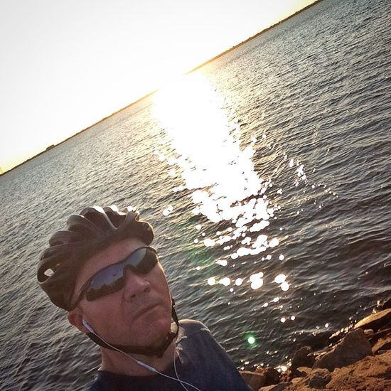 Good morning. Nice ride today but windy. That's Me Tadaa Community Sunrise Lake Eye Em Around The World