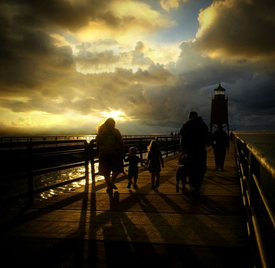 Pure Michigan Beautiful Nature Clouds And Sky Lighthouse Michigan Sunset Sunset Silhouettes Evening Stroll Promenade Scenic, Charlevoix Lake Michigan On The Beach Beach Mirrorless Pastel Power My Favorite Photo Fine Art Photography People And Places