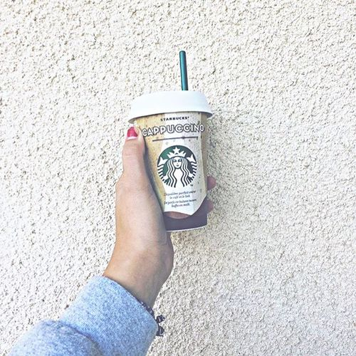 Yummy Human Hand One Person Day Women Yummy Starbucks Drink Good Outdoors