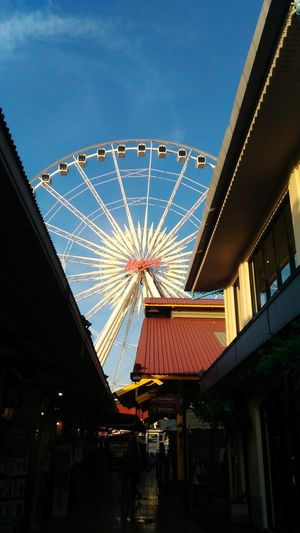 Seek out Ferris Wheel Low Angle View Sky Outdoors No People Travel Destinations Architecture Amusement Park Ride Asiatique Bangkok First Eyeem Photo