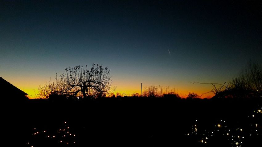 Wimter2016 Germany🇩🇪 Sonnenuntergang 🌇 Sunset No People Outdoors Orang Blue Blau Silhouette Fresh Nice Cool WOW Beauty In Nature