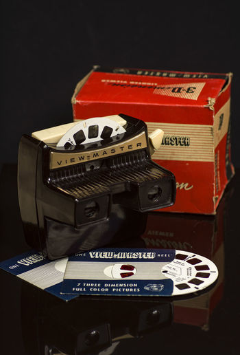 3D View Master 3D Vision Master Antique Old Toys Arts Culture And Entertainment Black Background Close-up Focus On Foreground Indoors  No People Old Toy Orignial Retro Styled Still Life Studio Shot Technology Text View Master Vision Western Script The Still Life Photographer - 2018 EyeEm Awards