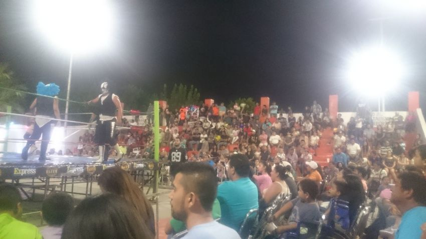 Night Large Group Of People Enjoyment People Adult Fun Arts Culture And Entertainment Women Leisure Activity Men Togetherness Illuminated Lifestyles Group Of People Adults Only Crowd Audience Excitement Party - Social Event Outdoors Torreón, Coahuila Wrestling Lucha Libre Mexican Wrestling Watching
