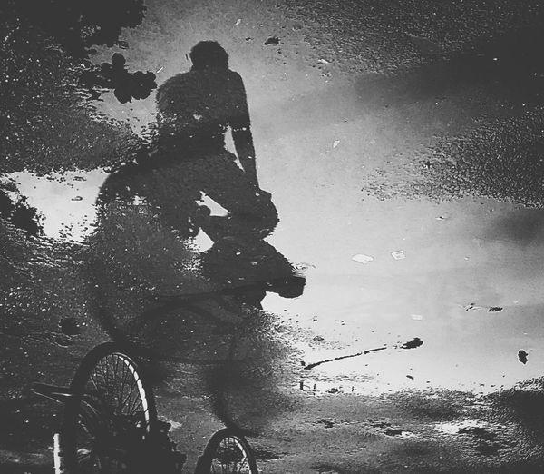Silhouette Bicycle Blackandwhite Streetphotography Black & White Monochrome Black And White Friday The Street Photographer - 2018 EyeEm Awards