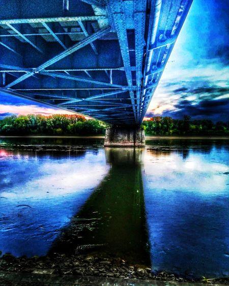 Zdjęcianiespodziewane Huawei Polska Toruń Niebo Niebieski Blue Sky Water Blue Bridge - Man Made Structure Cityscape Reflection Tree Sky Architecture Built Structure River Bridge My Best Travel Photo