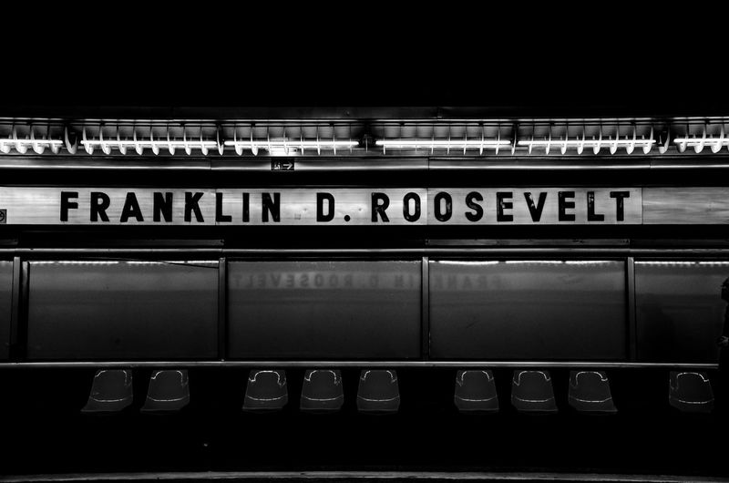 Franklin D. Roosevelt Metro Paris Paris, France  Architecture Blackandwhite Illuminated Indoors  Metro Station No People Public Transportation Rail Transportation Railroad Station Railroad Station Platform Sichtmanufaktur Station Subway Train Transportation Travel