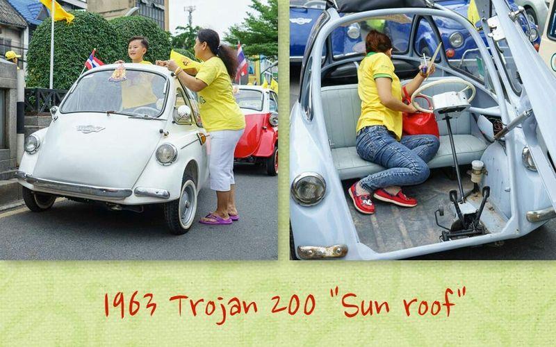 1963 Trojan 200. Trojan 200 1963 Trojan Bubblecar Microcar Vintage Cars Classic Car Sunroof Vintage Car People Photography