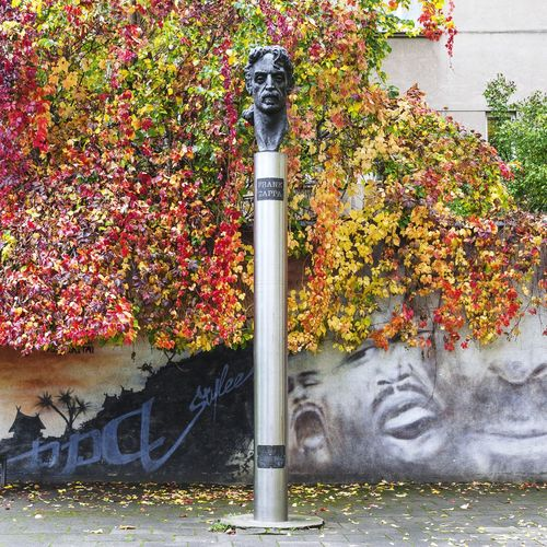 Frank Zappa Statue Sculpture Monument Vilnius Lithuania Famous Musician Rock Star Celebrity Here Belongs To Me