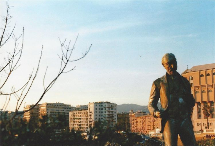 Statue Cityscape City Day Branches Frame Tree Sky Film Expired Outdoors Expired Film