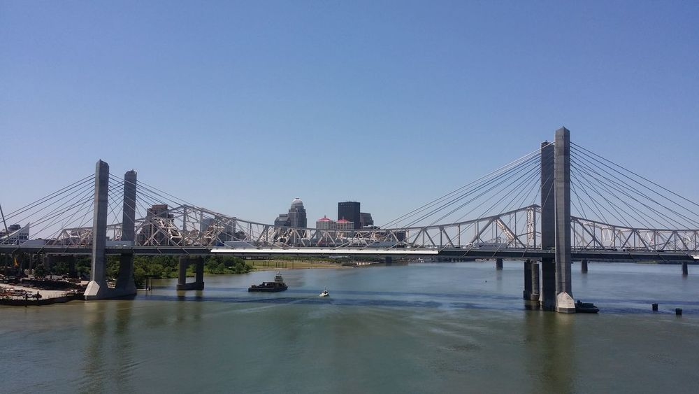 Ohio River Bridge Louisville Skyline