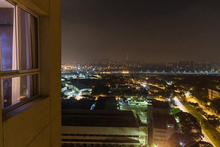View of illuminated cityscape at night