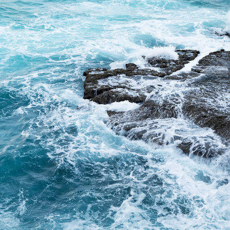 Beauty In Nature Blue Cold Temperature Foam Motion Nature No People Ocean Ocean Blue Ocean Collection Ocean Color Ocean Colour Scene Ocean Foam Outdoors Sea Seascape Seascape Photography Seascape_collec Tranquility Tropical Ocean Water Wave Waves Waves And Rocks Waves, Ocean, Nature