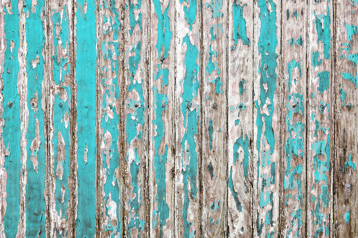 The old wooden wall painted with pale cyan color cracking, peeling and revealed the spike nail and rustic wood texture Paint Panel Wall Wood Aged Backdrop Background Board Cracked Dirty Fence Grunge Lath Old Pale Pattern Peel Peeling Rough Rusty Striped Texture Timber Wallpaper Wooden