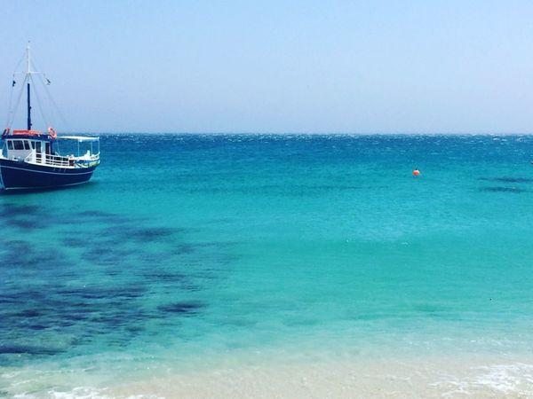 Mykonos Eliabeach Sea Blue Boat EyeEmNewHere
