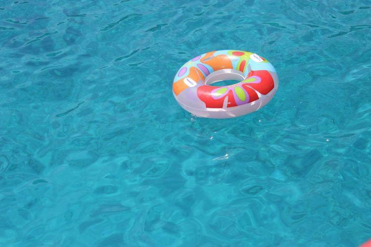 Inner Tube Floating On Water