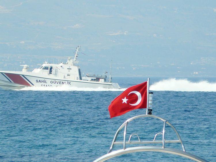 Bodrum Turgutreis  Akyarlar Boat Coastguard Turkey