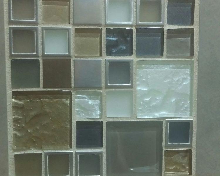 Squares Squares Picking Backsplash Natural Colours