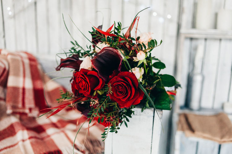 Beauty In Nature Bouquet Close-up Day Flower Flower Head Fragility Freshness Indoors  Nature No People Petal Plant Red Rose - Flower