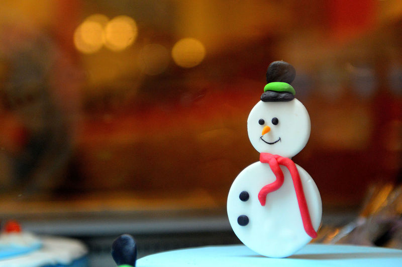 Close-Up Of Snowman Candy