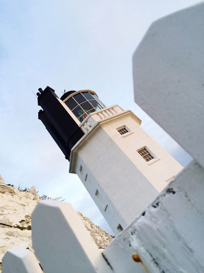 Light ahoy Lighthouse Lighthouse_lovers Light Lights Built Structure Building Exterior Architecture Sky Outdoors Seaside Cornwall St Antony's Lighthouse Sea Sea View White Color Light In The Darkness