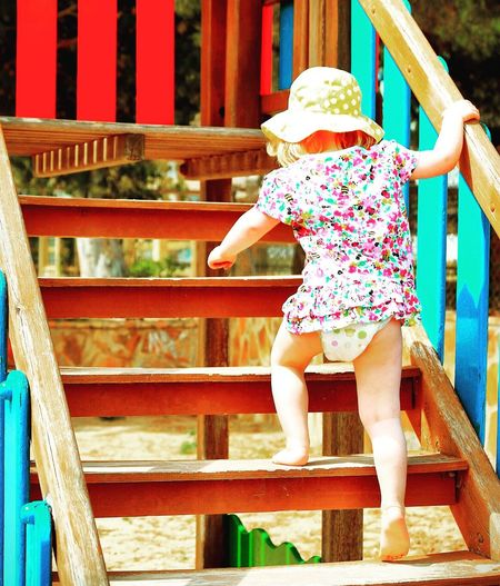 Urban Landscape Playground Toddlerlife Steps And Staircases Stairs Staircase Stairway Toddler Wearing Hat Girl On Stairs