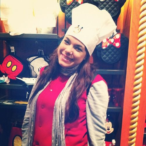 with mickey's chef hat <3 Disney Florida Chefhat Chefmickey awesome vacation @ryan_7748