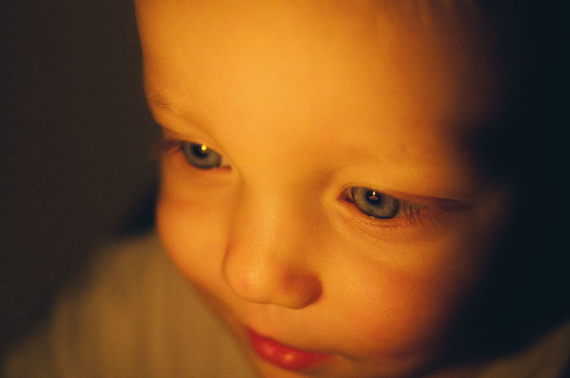 Son Baby Candle Learning Reflection Boy Childhood Close-up Cognition Curiosity Cute Human Face Indoors  Looking At Camera Portrait Real People