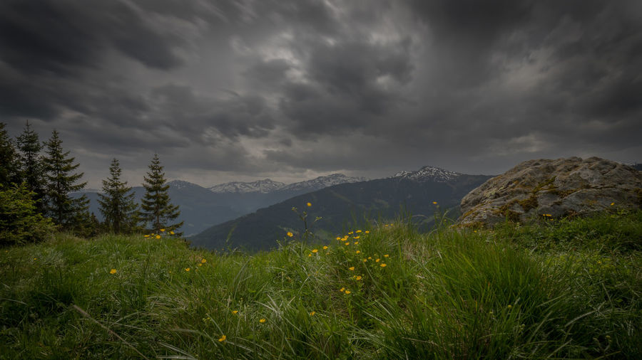Wildschönau Mountain Cloud - Sky Sky Plant Environment Nature Beauty In Nature Scenics - Nature Landscape Growth Grass No People Mountain Range Non-urban Scene Land Overcast Tranquility Tranquil Scene Storm Mountain Peak