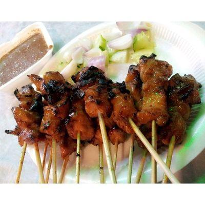Satay yang debab debab Dinner Satay Foodstamping Foodporn instafood happytummy