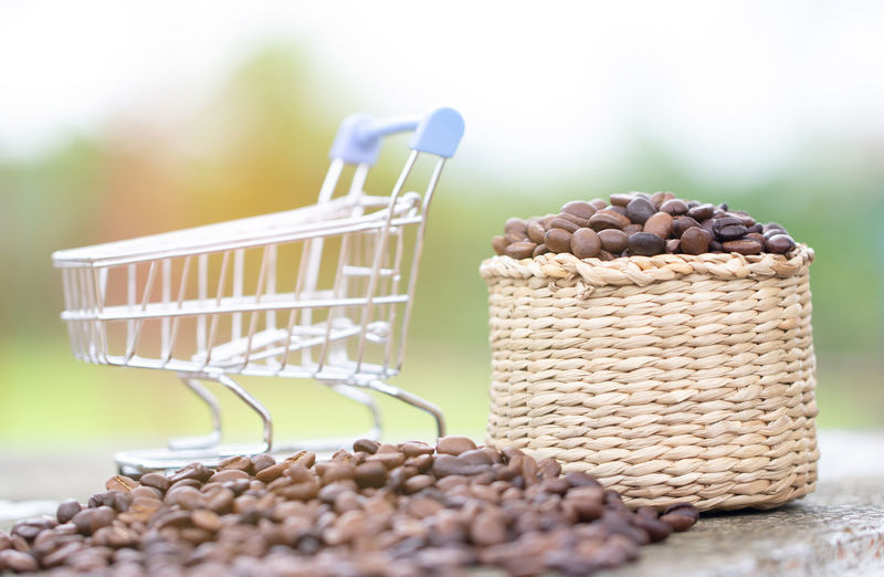 Sale Basket Brown Cart Close-up Container Day Focus On Foreground Food Food And Drink Freshness Healthy Eating Indoors  Large Group Of Objects No People Nut Nut - Food Raw Food Selective Focus Still Life Table Wellbeing