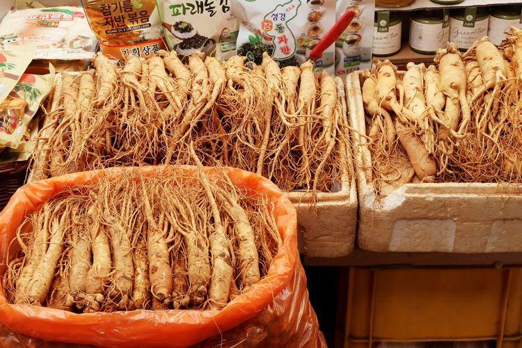 Fresh vegetables for sale at market stall