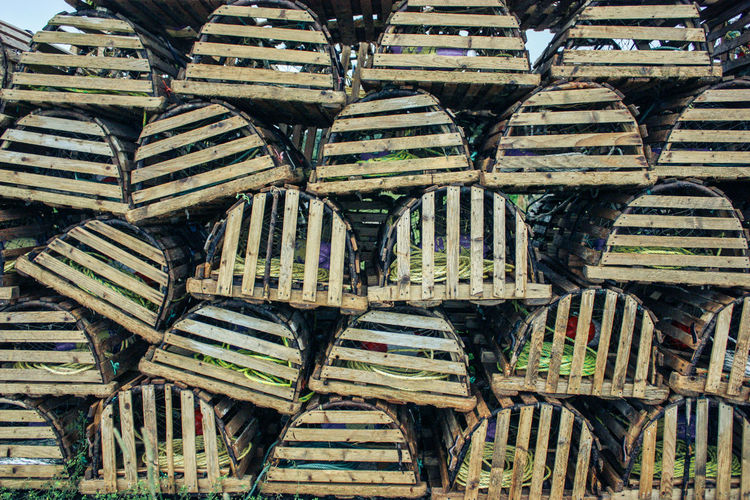 Stack Of Crab Pots