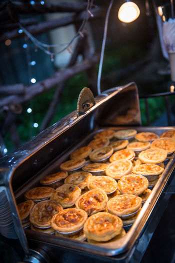 Pies at celebration event outdoors