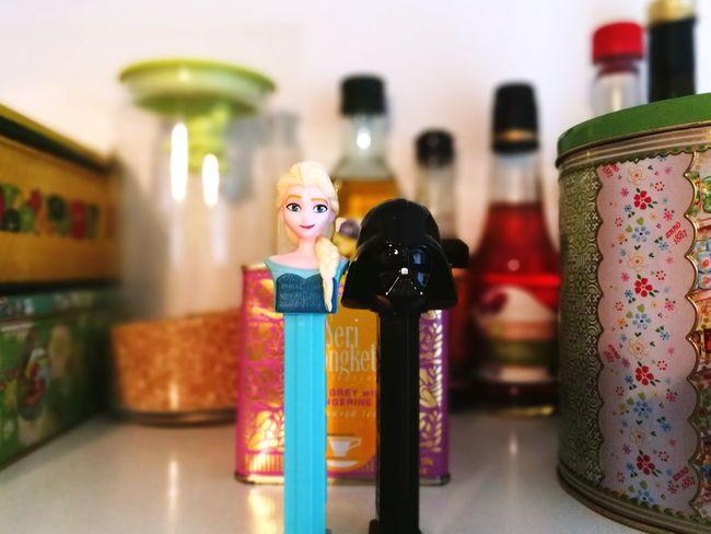 Perfect Match Candy Toys Indoors  Blond Hair Dark And Light Darkside Frozen Starwars Darthvader Elsa♡ Disney