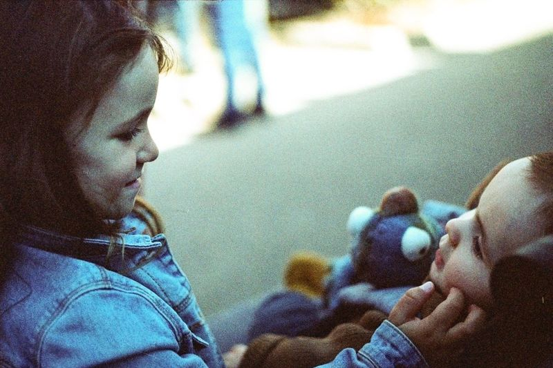 Analogue Photography Child Real People Childhood Family Young Two People Moments Of Happiness