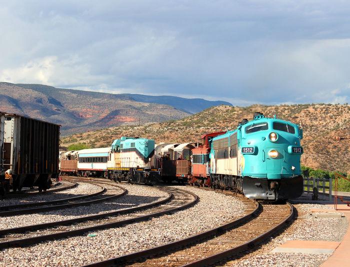 Arizona Blue Locomotive Engine No People Passenger Train Railroad Love Railroad Track The Way Forward Train Train Tracks Trainphotography Transportation Travel Destinations Verde Canyon Railroad