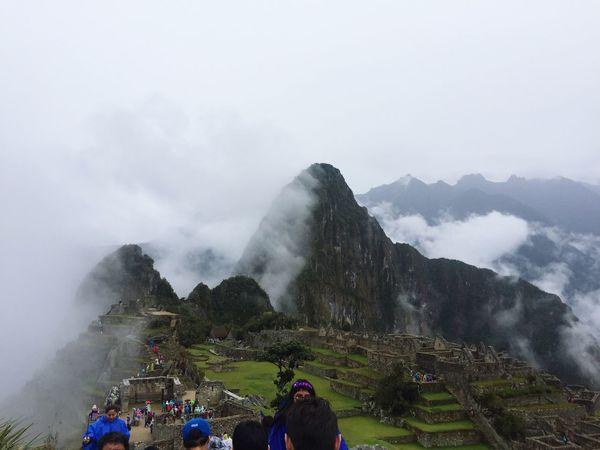Machu Picchu is sad Machu Picchu Tourist Travel Destinations Tourism Mountain Lifestyles Beauty In Nature Cloud - Sky Nature Sky
