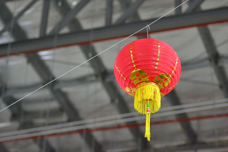 Chinese New Year 2018 Lantern Red Red Lantern Hanging Chinese Lantern Chinese Lantern Festival Red Lighting Equipment Chinese New Year Lantern Cultures Low Angle View Illuminated No People Close-up