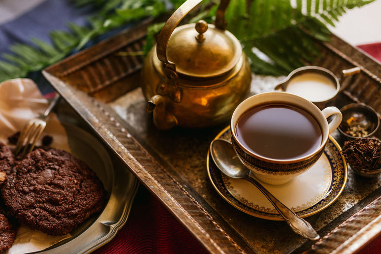Close-up Cookies Cooking Day Drink Food Food And Drink Freshness High Angle View Home Indoors  Kitchen No People Refreshment Table Tea