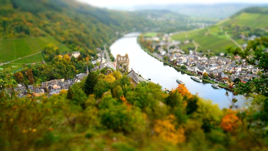 Traben-Trarbach Mosel Grevenburg Castleruin Nature Beauty In Nature No People Scenics Water Building Exterior Green Color Mountain Architecture Landscape Built Structure Tranquility Day Tilt-shift Tree Outdoors Sky