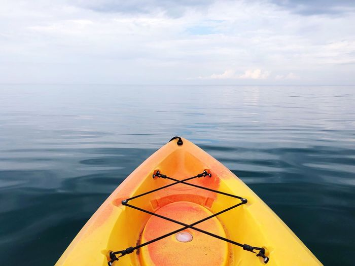 High Angle View Of Kayak In Sea