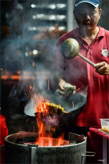 To Char Koay Teow with Love! Adult Adults Only Asian Food Char Koay Teow Ckt Day Flat Noodles Foodie Fried Flat Noodles Hawker Food Heat - Temperature Indoors  Malaysia Malaysian Food One Man Only One Person Only Men People Preparation  Smoke - Physical Structure Waist Up