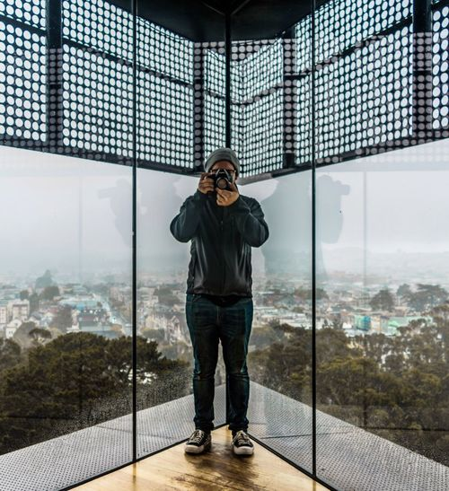 One Person Front View Standing Young Adult Full Length Day Cityscape Sky Outdoors One Man Only Adults Only People Adult San Francisco Fog Foggy