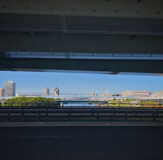Blue Sky Smartphonephotography Architecture Built Structure Building Exterior City Transportation No People Day Road Outdoors Cityscape Mode Of Transportation Bridge - Man Made Structure Bridge
