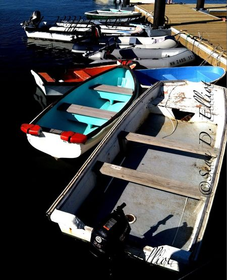 Dinghies at the dock.