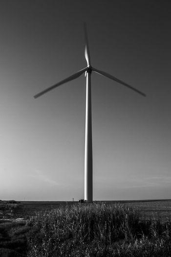 The Wind turbine by, Cooper Billington Alternative Energy Beauty In Nature Environmental Conservation Landscape Outdoors Renewable Energy Sky Technology Wind Power Wind Turbine