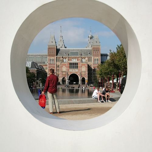 Untitled Rijksmuseum Rijksmuseum Amsterdam I Am Amsterdam Iamamsterdam Museumplein Built Structure Architecture Building Exterior Day Outdoors City People DeeArt