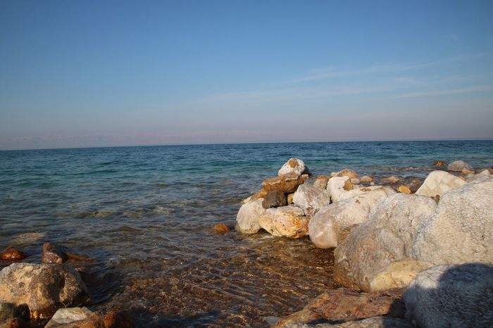 Sea Horizon Over Water Nature Water Beauty In Nature Sky Tranquil Scene Tranquility Beach Scenics Rock - Object Clear Sky No People Day Outdoors Pebble Beach