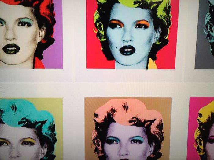 ArtWork Art Katemoss Made2Measure Showcase: February Eye4photography  From My Point Of View Taking Photos Iphonephotography IPhoneography Not Andy Warhol. That's just Kate Moss.