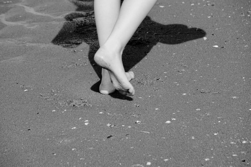 Walk in sand EyeEm Selects Low Section Body Part Human Body Part One Person Human Leg Beach Land Shadow Nature Real People Day Sunlight Sand Lifestyles Standing Women High Angle View Walking Leisure Activity Outdoors